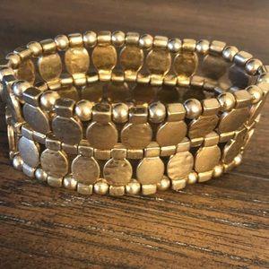 Anthropologie Gold Stretch Bracelet - NEW!